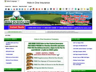 Hole in WON - Hole in One golf insurance