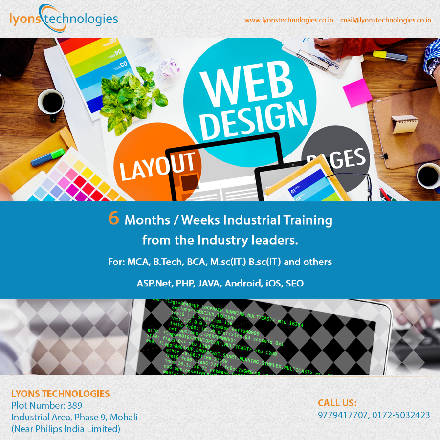 6 Months Industrial Training  in Web Designing With Lyonstechnologies.png